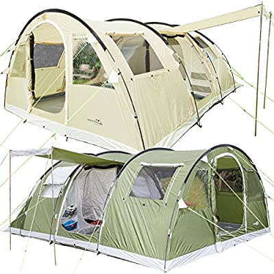 Skandika Gotland 6 Man Family Tunnel Tent with Sewn-In Groundsheet from Skandika