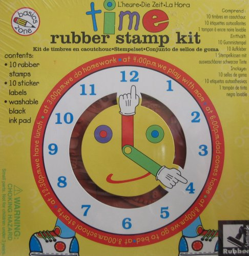 Time Rubber Stamp Kit - 1