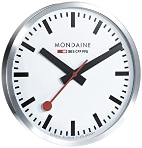 Mondaine a995 wall clock large white dial mondaine watches - Mondaine wall clocks ...