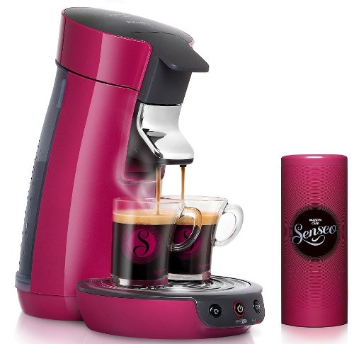 cafetiere philips hd7825 45 cafeti re senseo dosette viva caf rose framboise 2 tasses. Black Bedroom Furniture Sets. Home Design Ideas