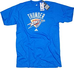 NBA Men's Oklahoma City Thunder Short Sleeve T- Shirt (Strong Blue, Medium)
