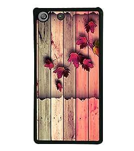 Wooden Pattern 2D Hard Polycarbonate Designer Back Case Cover for Sony Xperia M5 Dual :: Sony Xperia M5 E5633 E5643 E5663