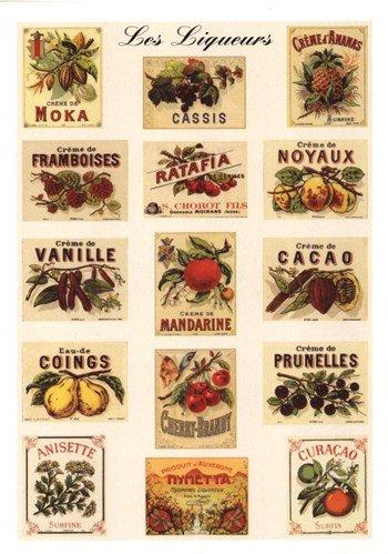 Liqueurs Art Poster