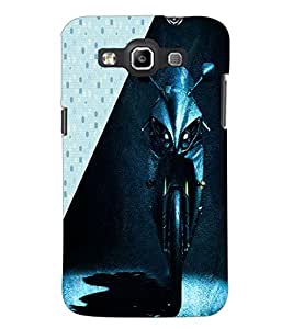 PrintDhaba Bike Front D-3415 Back Case Cover for SAMSUNG GALAXY WIN i8552 (Multi-Coloured)