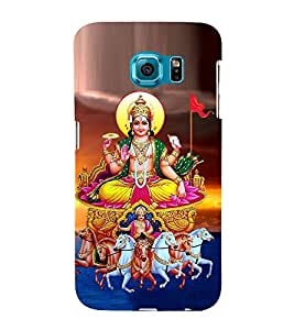 Lord Surya 3D Hard Polycarbonate Designer Back Case Cover for Samsung Galaxy S6 :: Samsung Galaxy S6 G920