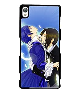 Fuson Love Couple Back Case Cover for SONY XPERIA Z3 - D3834