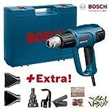 Bosch Heißluftgebläse GHG 660 LCD Set, blau blau