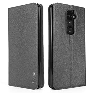 LG G2 (AT&T CARRIER ONLY) Case - Poetic LG G2 (AT&T CARRIER ONLY) Case [FlipBook Series] - [Lightweight] [Professional] PU Leather Protective Flip Cover Case for LG G2 (AT&T CARRIER ONLY) Black (3 Year Manufacturer Warranty From Poetic)