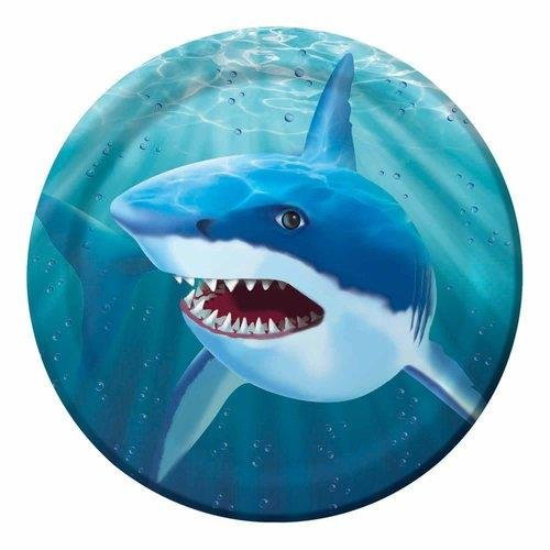 "Shark Week Party Supplies Ocean Theme 9"" Dinner Plates 10Ct. - 1"