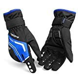 インバイク(INBIKE)サイクリングブローグ冬 メンズ 蛍光グリーン ブラック 防風・防寒効果 反射素材使用 (BLUE, M)