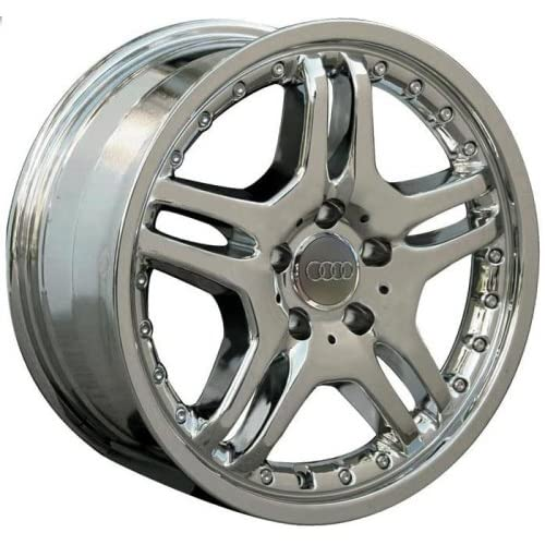 Audi RS6 17 Inch Quattro Chrome Style Wheels Rims 2002 2003 2004 2005 2006 02 03 04 05 06