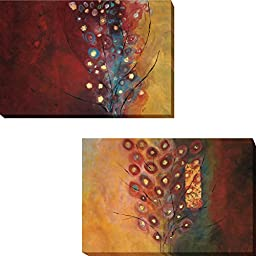 Silent Life of Trees I & II by Natalia Russell 2-pc Premium Gallery-Wrapped Canvas Giclee Art Set (Ready-to-Hang)