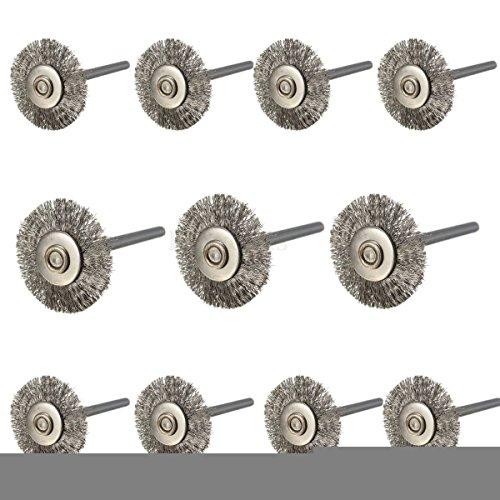 Generic QY-UK-1 4-16FEB 20-3707 *****Con ruote 5722 pennelli 22 mm, 10 pezzi, in acciaio INOX, 2 pezzi, 10 pezzi, 22 mm, con utensili rotativi Dremel y emel Tools-Smerigliatrice per utensili rotativi