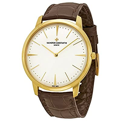Vacheron Constantin Patrimony Grand Taille Automatic Silver Dial Brown Leather Mens Watch 81180000J-9118