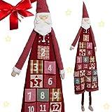 Großer Adventskalender zum Befüllen ca. 120 cm wunderschöner Weihnachtsmann Nikolaus