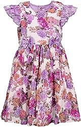 Euphoria Girls' Dress (SKU296F, Multi-Coloured, 3-4 Years)