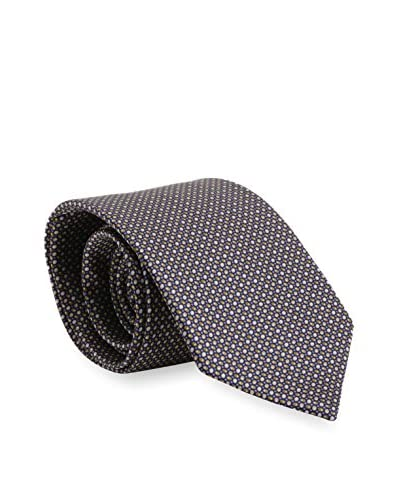 Brioni Men's Patterned Silk Tie, Brown