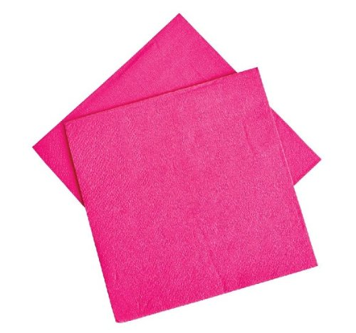 Hot Pink Beverage Napkins (50 pc) - 1