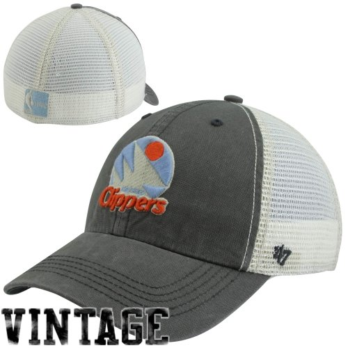 Nba Los Angeles Clippers Caprock Canyon Stretch Fit Cap, One Size, Charcoal front-1043751