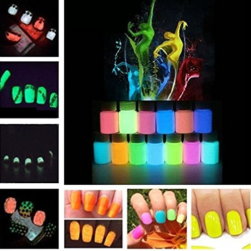 12Colors Fluorescent Super Bright Glow-in-the-Dark Powder Glow Pigment set 29 (Ada Clear Super compare prices)