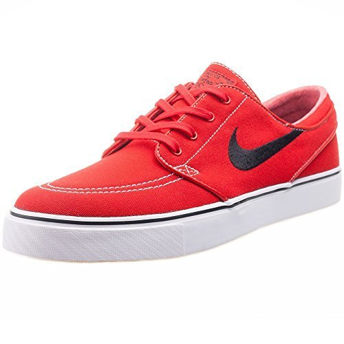 Nike Men's Zoom Stefan Janoski Cnvs Unvrsty Rd/Blk/Gm Lght Brwn/Wh Skate Shoe 10.5 Men US (Oasis Shoes Men compare prices)