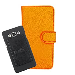 DooDa PU Leather Wallet Flip Case Cover With Card & ID Slots For iBall Cobalt Solus 4G - Back Cover Not Included Peel And Paste