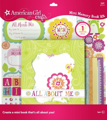 Adhesive Squares Punch-Out Designs And Words - American Girl Crafts Memory Book, Friends