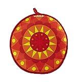 IMUSA USA MEXI-10007 Sunburst Cloth Tortilla Warmer, 12-Inch, Yellow/Red/Orange