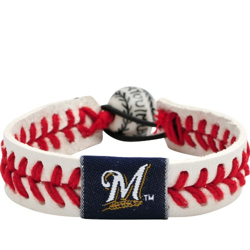 MLB Milwaukee Brewers Classic Baseball Bracelet