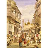 Crowded Street Scene in Lahore, by William Carpenter (Print On Demand)