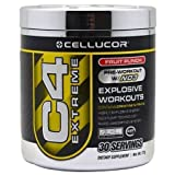 Super Workout C4, Pre Workout with N03, 30 Servings Creatine Nitrate, Cellucor, Fruit Punch Flavor