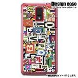 HTC J ISW13HTハード ケース カバー ジャケット/1019_コラージュ柄/CR