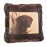 Big House Home Collection Chocolate Lab Home Accent Pillows, 16 by 16-Inch