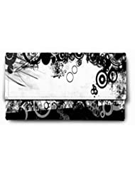 Sleep Nature's Beautiful Black And White Printed Ladies Wallet