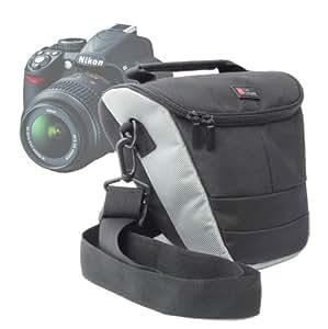 Housse étui de protection en Nylon résistant à l'eau pour appareils photos Nikon Coolpix D5100, D5000, D3100, D7000, D300