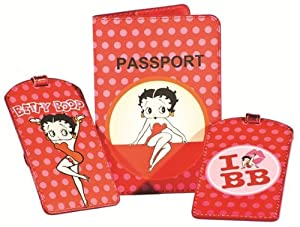 Betty Boop Travel Set Luggage Tags & Passport Cover