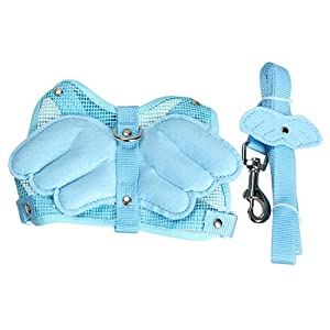 Vktech Adjustable Angle Wing Rabbit Ferret Pig Harness Leash Lead Strap Nylon