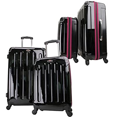 Swiss Case 4 Wheel EZ2C 2Pc Suitcase Set Pink by Swiss Case