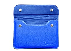 Chevron Leather Cover Case For DOMO X3D-SE Tablet (Blue) 7