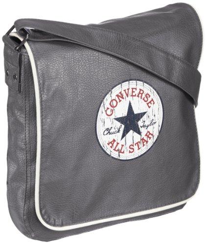 7c48f7f4dd62f Converse Umhängetasche Vintage Patch PU Fortunebag 4.2 Liter Grau (Medium  grey) 99403B-55
