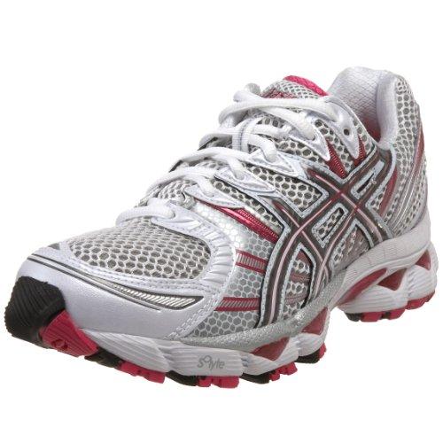 Asics Shoes Gel Nimbus  White Titanium Raspberry