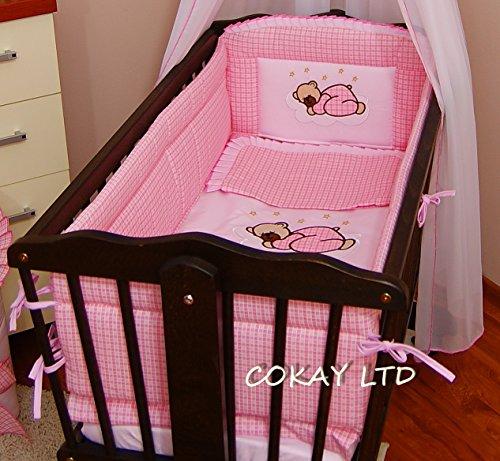 4-pcs-bedding-set-duvet-duvet-cover-pillow-to-fit-baby-swinging-crib-cradle-pink