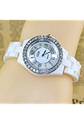Best New 2014 Ceramic Watch for Women Dress Watches Analog white band Casual watch Hot Sale