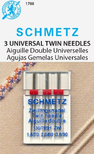 Best Price! Schmetz Twin Assortment Needles Sz1.6/70, 2.0/80 and 3.0/90
