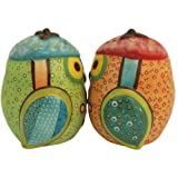 Westland Giftware Life S Little Journey Life Is A Dance Owls 2-3/4-Inch Magnetic Salt And Pepper Shakers