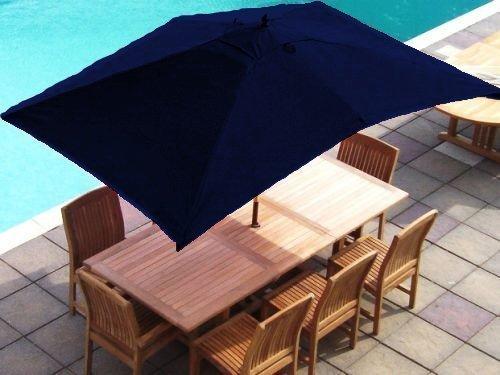 Best Deal Navy Blue Replacement Rectangular Parasol Cover 3x2