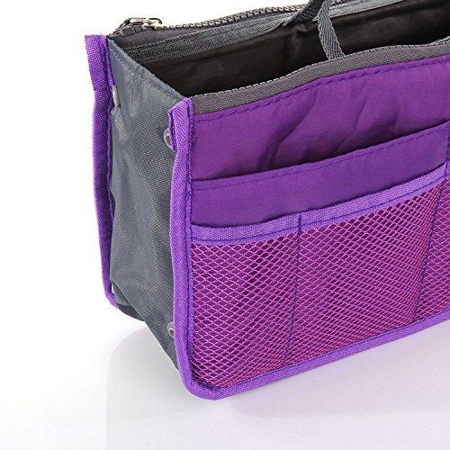 mona women multi pocket insert handbag purse organizer. Black Bedroom Furniture Sets. Home Design Ideas