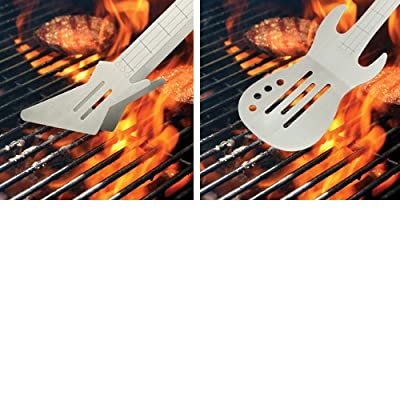 Barbuzzo Rock n' Roll Guitar BBQ Gift Set - Spatula & Tongs