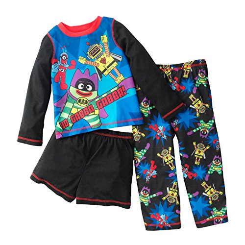 Yo Gabba Gabba! Toddler Boy'S 4 Piece Pajama Set - 2T front-351581