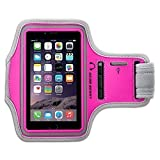 Gear Beast Deluxe Sports Armband for Samsung Galaxy S5 / S4 / S3 & Fire Phone & iPhone 6 & Galaxy S4 Active & LG G2 & HTC & Nexus & Nokia & More [Without a Case] (Pink/Grey)